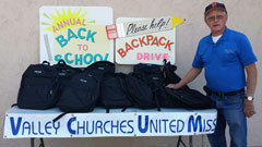 Annual Back-Pack drive just one of our Special Projects each year.
