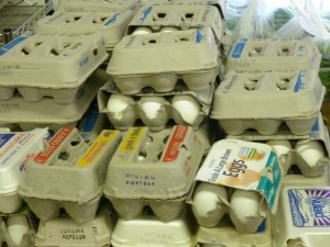 Clients enjoy receiving fresh eggs.